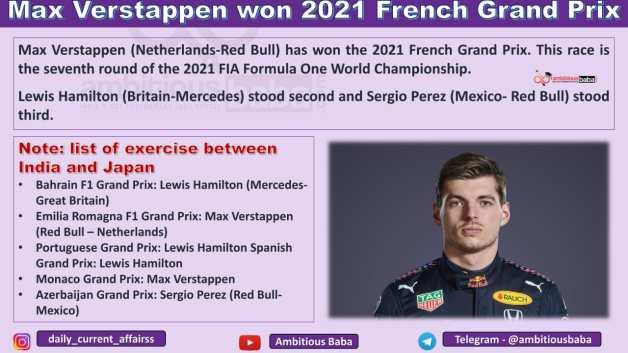 Max Verstappen won 2021 French Grand Prix