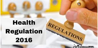 Health Regulation 2016