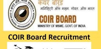 COIR Board Recruitment 2021 : 36 Post for Scientific Asst, Manager