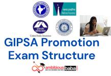 GIPSA Promotion Exam : Examination Structure