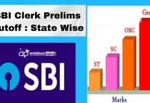 SBI Clerk Prelims Cutoff 2021 : State Wise