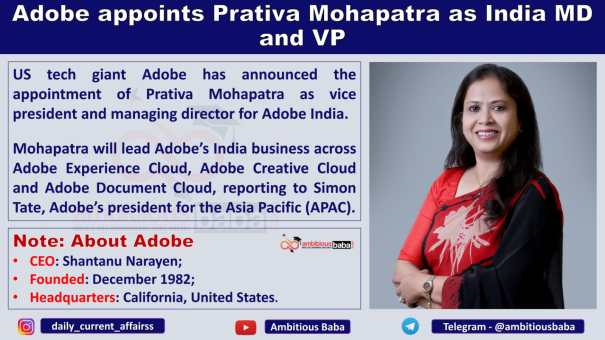 Adobe appoints Prativa Mohapatra as India MD and VP