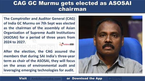 CAG GC Murmu gets elected as ASOSAI chairman