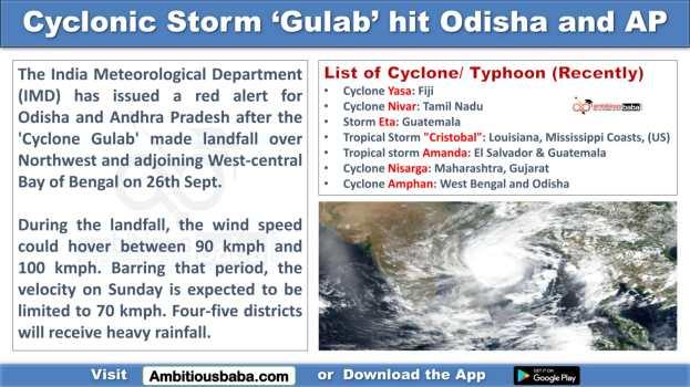Cyclonic Storm 'Gulab' hit Odisha and AP