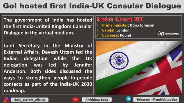 GoI hosted first India-UK Consular Dialogue