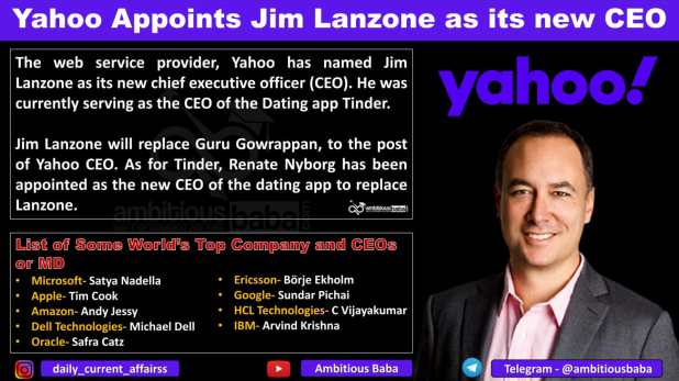 Yahoo Appoints Jim Lanzone as its new CEO