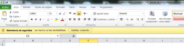 advertencia macros excel