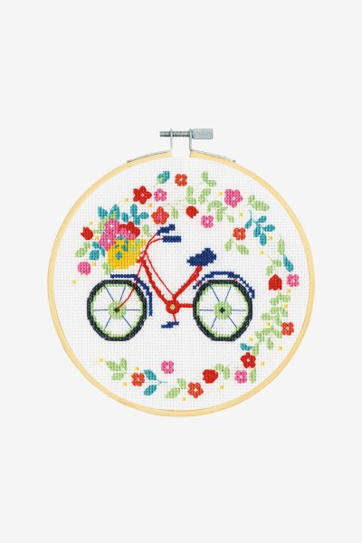 Floral Bicycle – Counted Cross Stitch Kit DMC