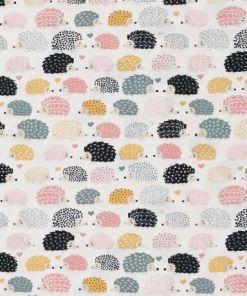dear stella hedgehog quilting cotton fabric