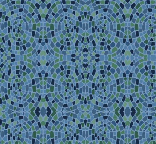 blue green mosaic dance at dusk marcus fabric
