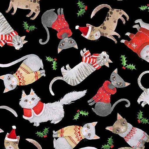christmas cats black timeless treasures