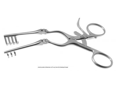 Beckman-Weitlaner self-retaining retractor, 9 1/2'',hinged