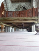One of the balconies where women pray