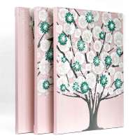 Pink and Teal Nursery Wall Art Tree on Canvas