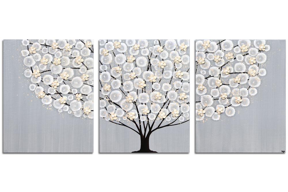neutral painting of flowering