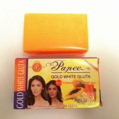 GOLD WHITE GLUTA PAPEE SAVON ECLAIRCISSANT PAPAYE & CAROTTE