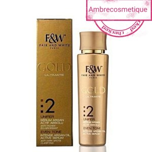 FAIR AND WHITE GOLD 4 PIECES CREME & SAVON & LAIT & SERUM GAMME ECLAIRCISSANTE
