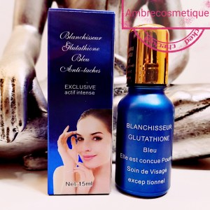GLUTATHIONE BLEU RESULTAT 5 JOURS SERUM VISAGE ECLAIRCISSANT ORIGINAL LA GAMME  GLUTATHIONE BLEU ORIGINAL C'EST AUSSI CREME VISAGE, LAIT CORPS, LOTION VISAGE SERUM GLUTATHIONE ORIGINAL EXTRA FORT SUPER ECLAIRCISSANT INTENSIF, ECLAIRCIT EN ELIMINANT TOUTES LES IMPERFECTIONS DE LA PEAU ANTI TACHE REBELLE, ELIMINE LES MASQUES DE GROSSESSE. GLUTATHIONE BLUE SERUM ORIGINAL  GLUTATHIONE ORIGINAL EXTRA FORT SUPER INTENSIVE LIGHTENING, LIGHTENING BY REMOVING ALL IMPERFECTIONS FROM THE REBEL ANTI-TACHE SKIN, ELIMINATES PREGNANCY MASKS.