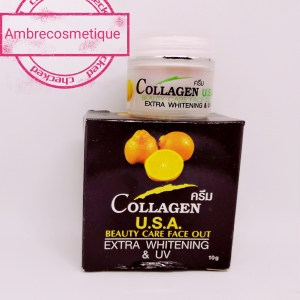 COLLAGEN USA CREME VISAGE EXTREME BLANCHIMENT & ANTI RIDES PROTECTION UV