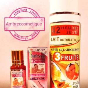GAMME ECLAIRCISSANTE 42 HEURES JUSTE 3 FRUITS MELON & PAPAYA & CAROTTE DOUBLE ACTION 2 PIECES
