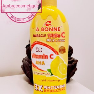 LAIT ULTRA ECLAIRCISSANT PROTEINE AU COLLAGENE AHA VITAMINE C LEMON CARROT A BONNE