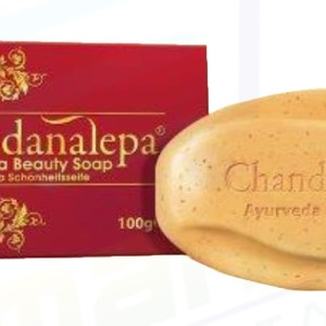 CHANDANALEPA AYURVEDA BEAUTY BAR SAVON ECLAIRCISSANT BOIS DE SANTAL & CURCUMA