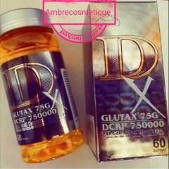 GELULES GLUTAX 75G DCRP 750000 DNA REVITALISANT DETOXIFIANT ET BLANCHISSANT