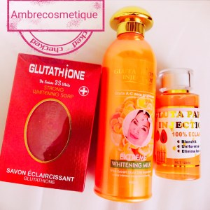 GLUTATHIONE INJECTION EXTREME WHITENING GLUTAX 50G LAIT SAVON SERUM CORPS EXTRA ECLAIRCISSANT 3 PIECES
