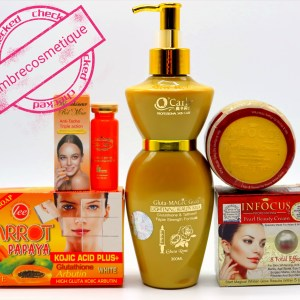 GAMME GLUTATHIONE GOLD VITAMINE C GLUTA MAGIC ACID ECLAIRCISSANT INTENSE 4 PIECES