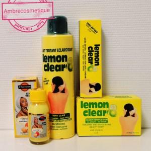 GAMME ECLAIRCISSANTE LEMON CLEAR ANTI TACHES 4 PIECES FAST ACTION