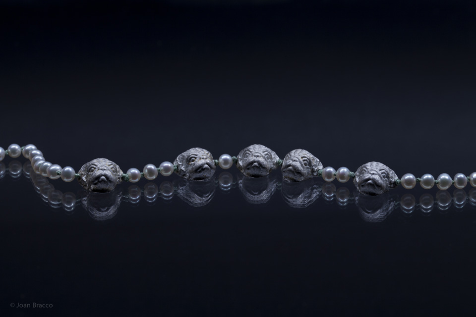 necklace, 2011 : silver, pearls