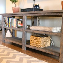 How To Build A Simple Bookcase Sofa Table Office Furniture Corner Diy X Console Me 43 Three And Counting