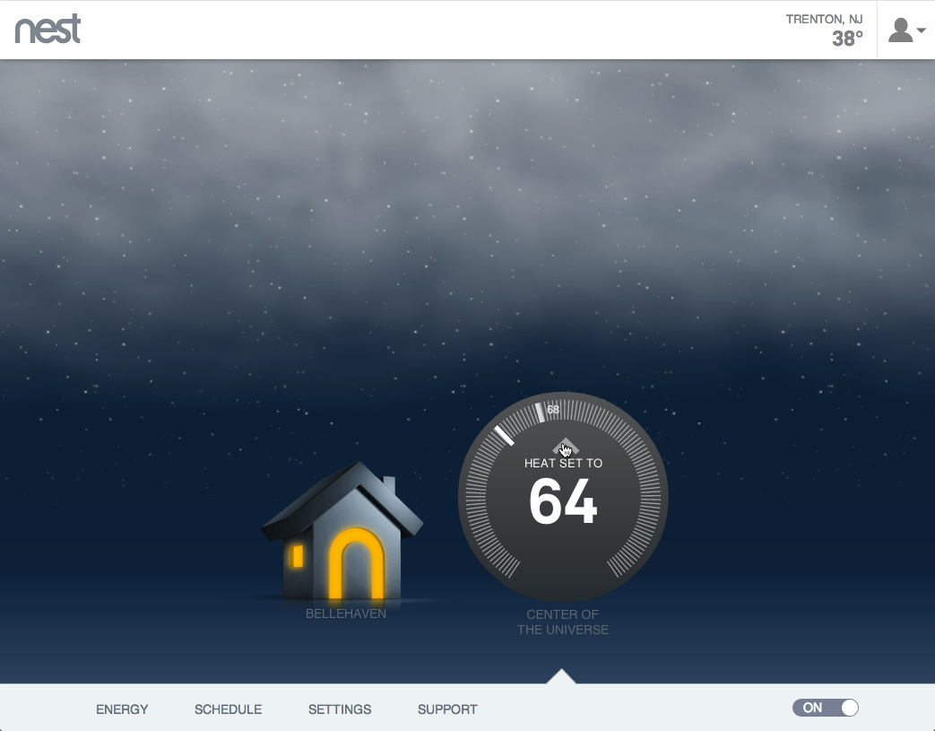 hight resolution of nest thermostat control