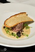 Smoked Ham Hock Rillette, Warm Mustard Veloute and Crisp