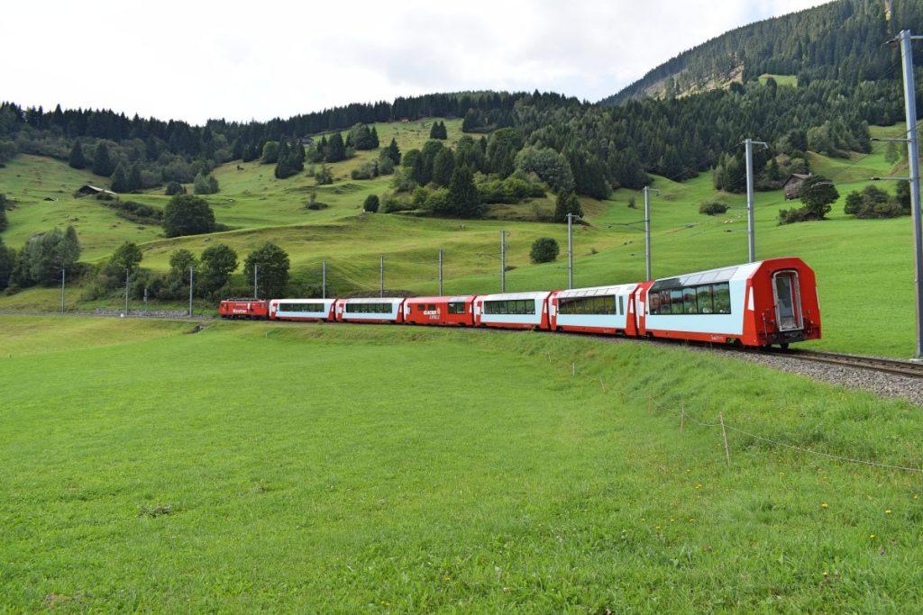 Train in nature full of people-original