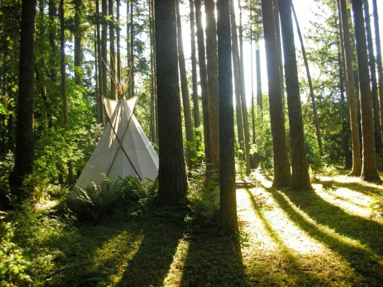 Yoga Retreat at Tipi Village, Marcola, Oregon