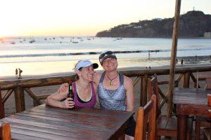sunset-beer-san-juan-del-sur-yoga-retreat