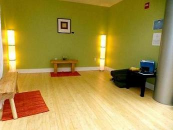 Yoga room at Burlington Airport