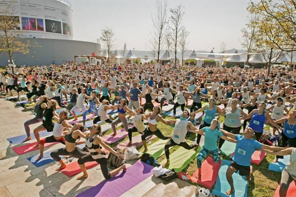yoga event in Lisbon, Portugal Wanderlust 108