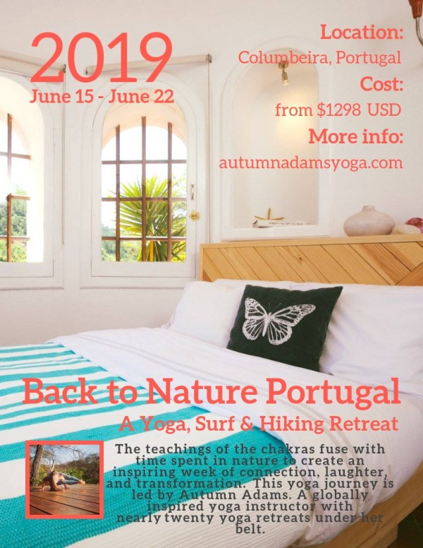 yoga and surf retreat in Portugal