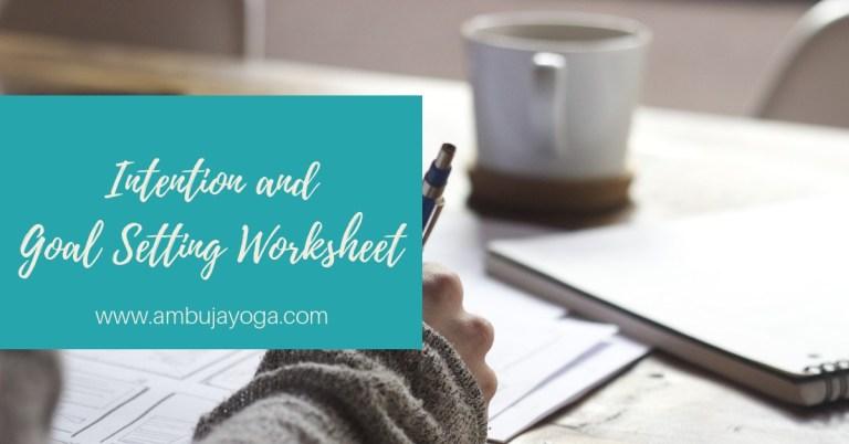 values driven goal setting worksheet