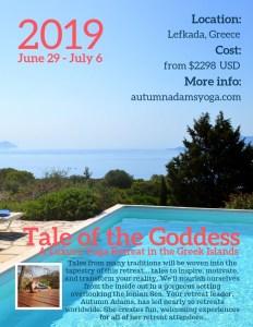 Greek island yoga retreat 2019