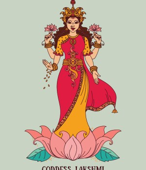 Lakshmi goddess of prosperity