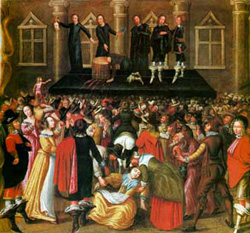 Janeiro de 1649, execução de Charles I: pela primeira vez na história da Inglaterra um rei é executado pelo seu povo.