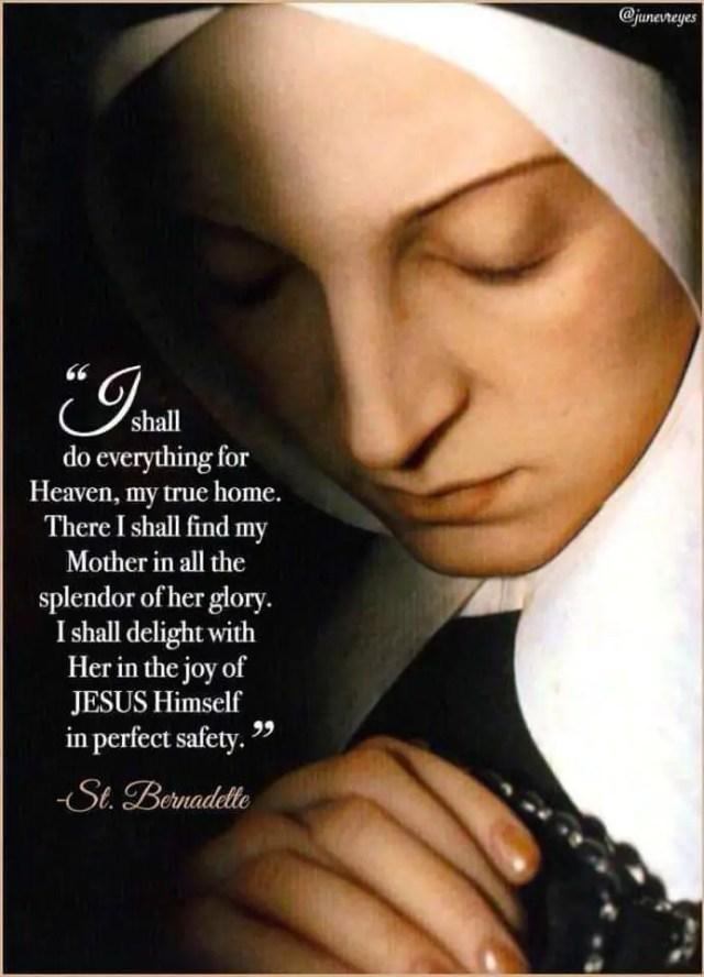 Prayer to St Bernadette