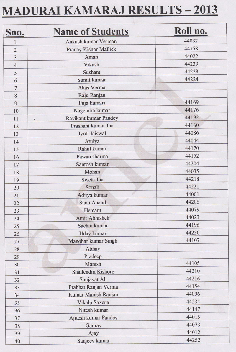 AMCL >> Result 2013 >> Voyage of Success @ AMCL Result