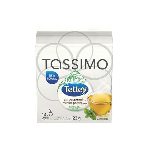 Tetley Pure Peppermint Tea Tassimo T-Discs - 14 pack - AM Coffee Shack
