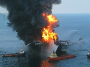 oil rig explosion, fire, disaster