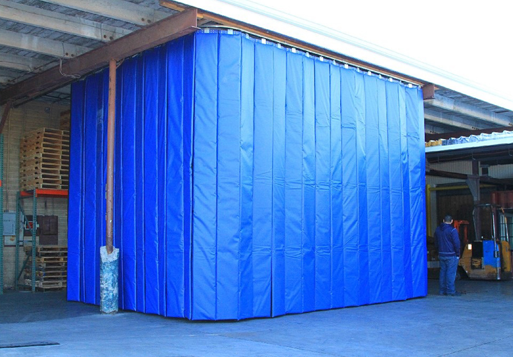 Retractable Industrial Acoustical Curtains  Acoustic