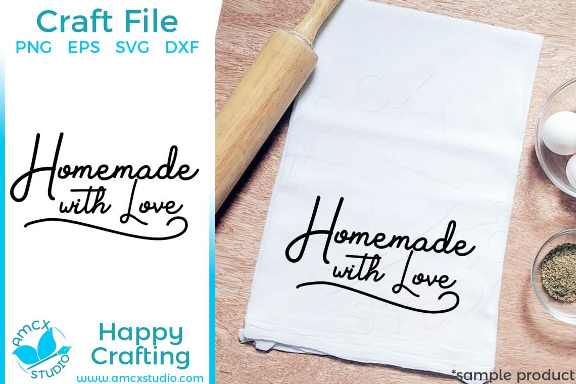 Download Homemade with love - SVG by AMCX Studio
